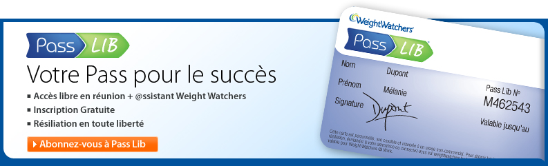 carte de membre weight watchers