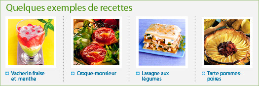 exemples de recettes Weight Watchers