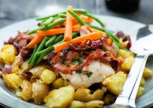 bon plat patate bacon legumes