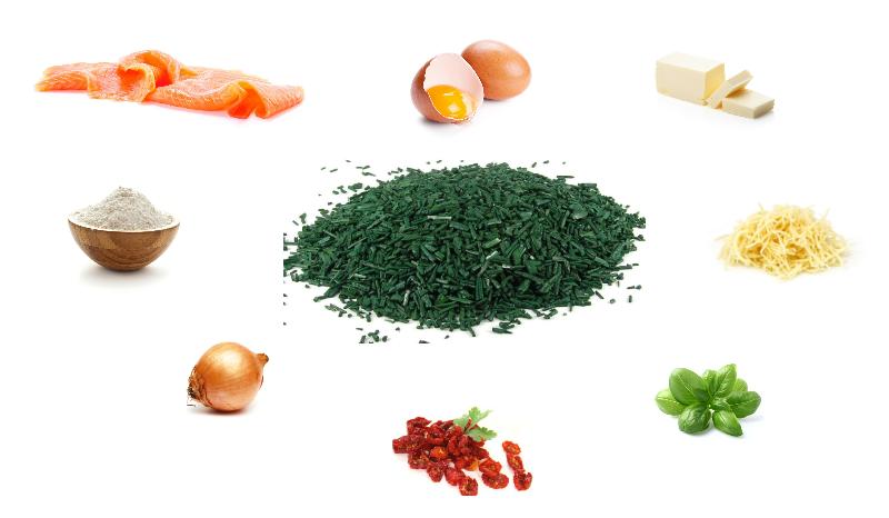ingrédients tartelettes saumon spiruline