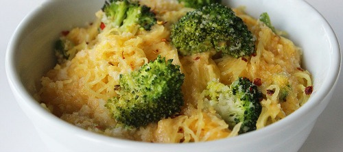 courge spaghetti fromage et brocolis