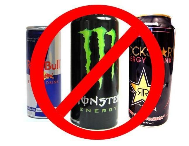 pas de boissons energisantes