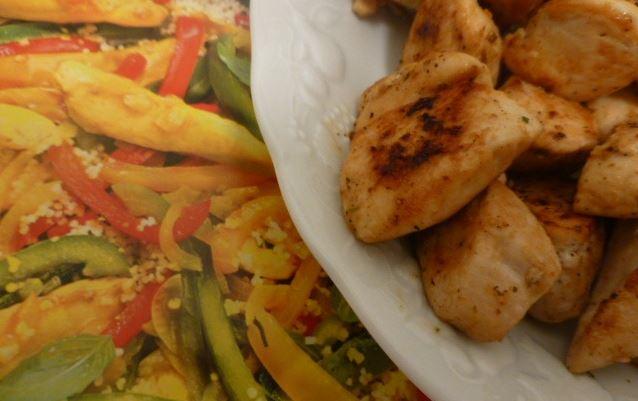 recette de poulet arlequin