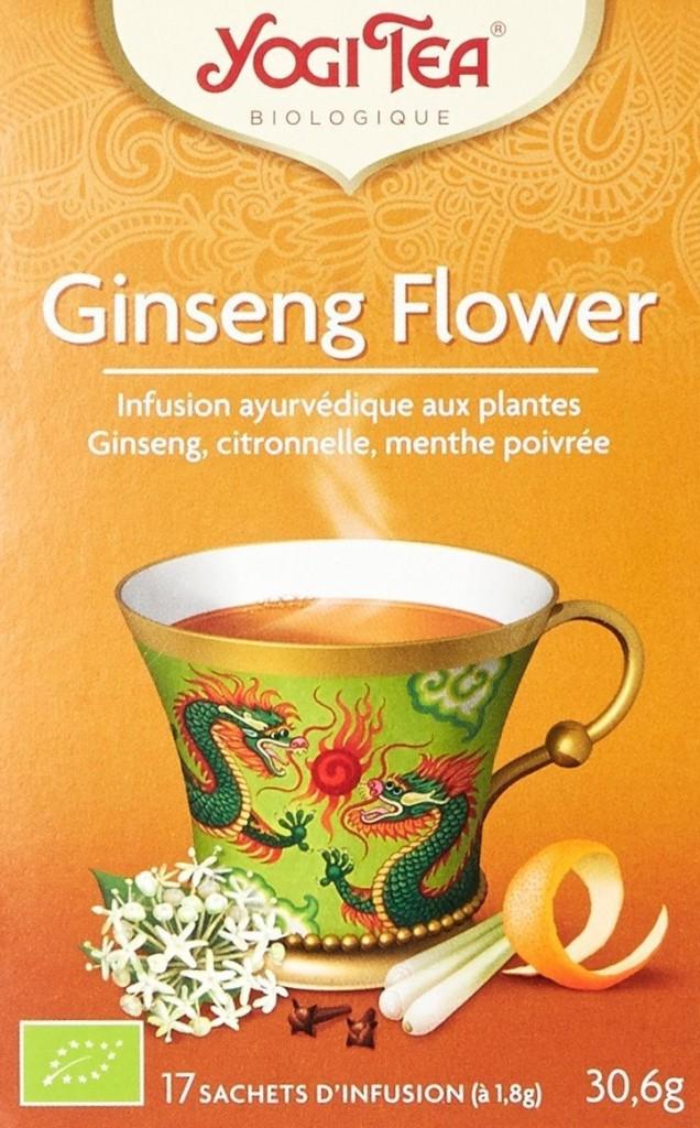 thé bio au ginseng yogi tea