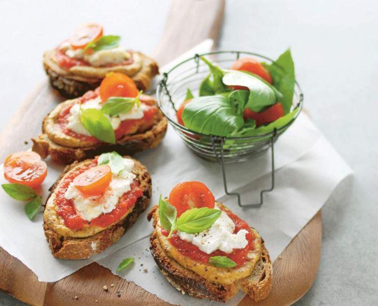 recette de tartines aux tomates