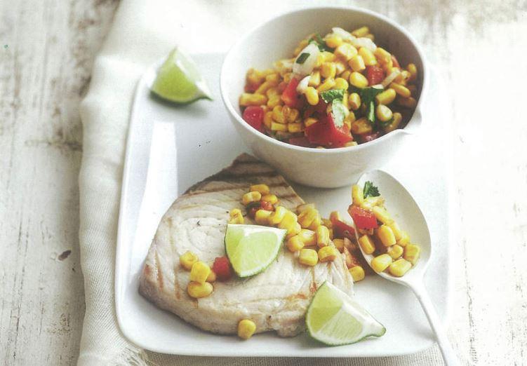 recette de thon grillé aux légumes