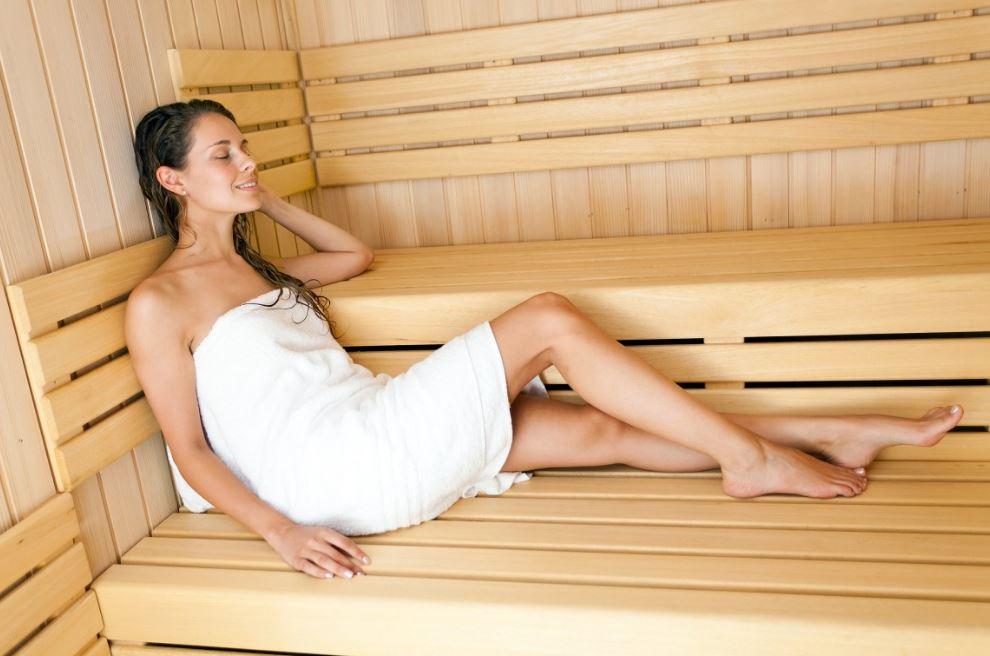 être dans le sauna