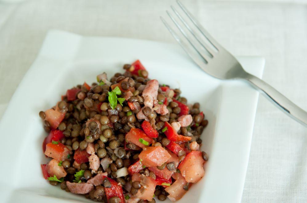 une recette de salade de lentilles