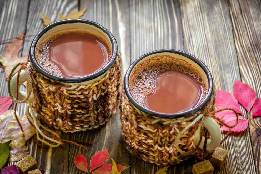 boire les boissons chaudes pendant l'automne
