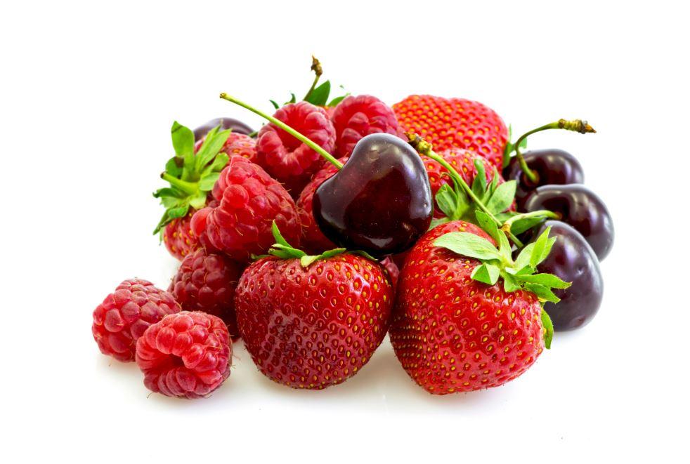 manger les fruits rouges