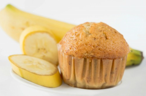 muffins de maïs coeur banane