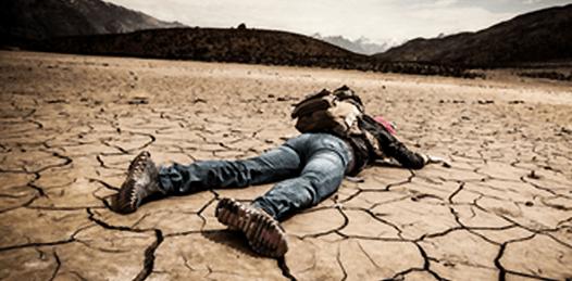 deshydration sol et homme