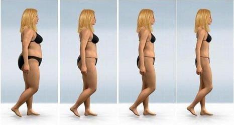 evolution dune perte de poids rapide
