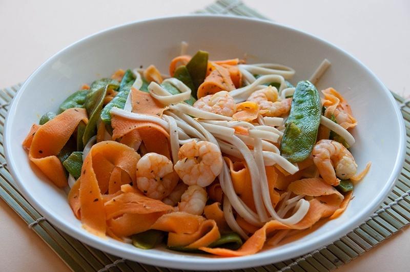 plat gourmand work crevettes carottes