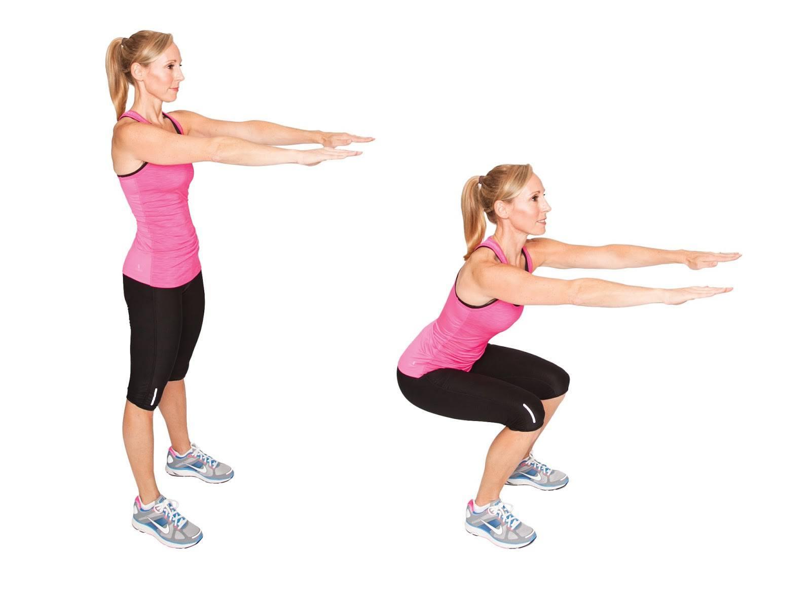 squat de base position detaillé