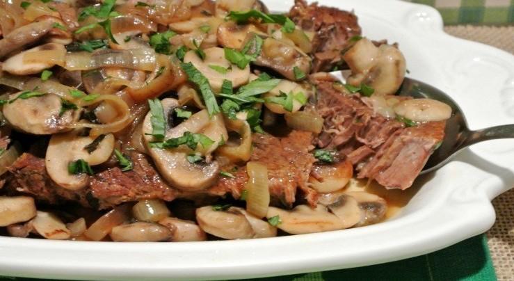 recette rapide et protéiné steak cuisson lente façon suisse