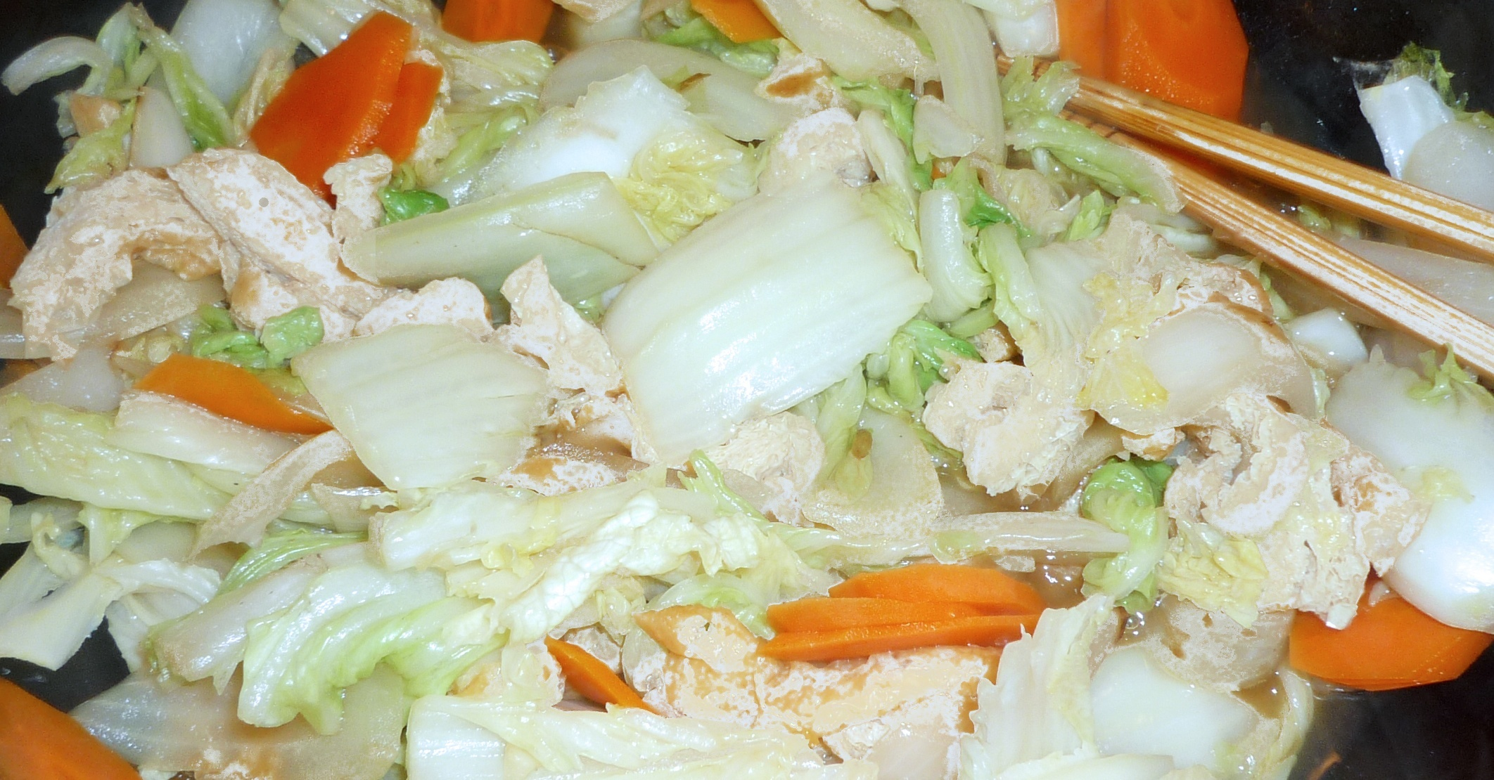 wok chou chinois carottes colin recette weight watchers