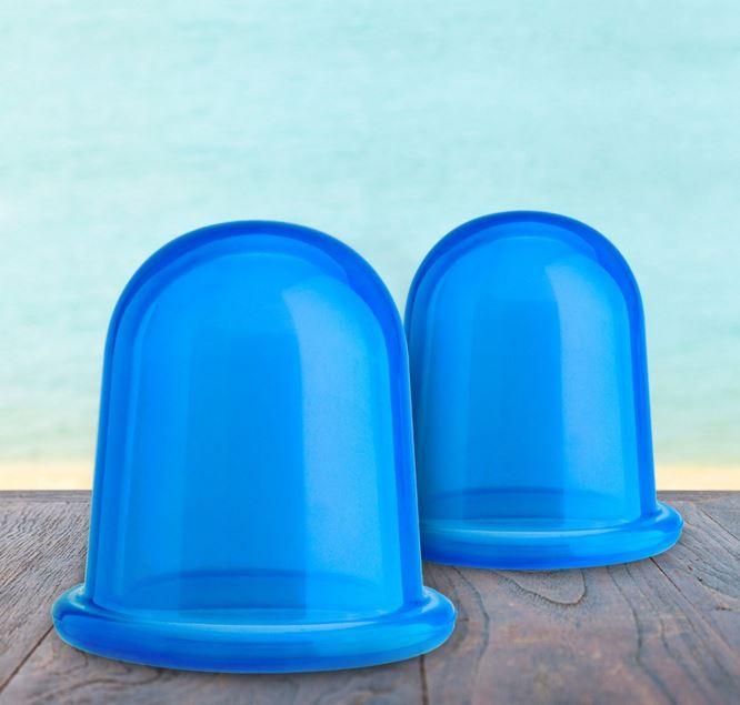 ventouse en silicone bleu