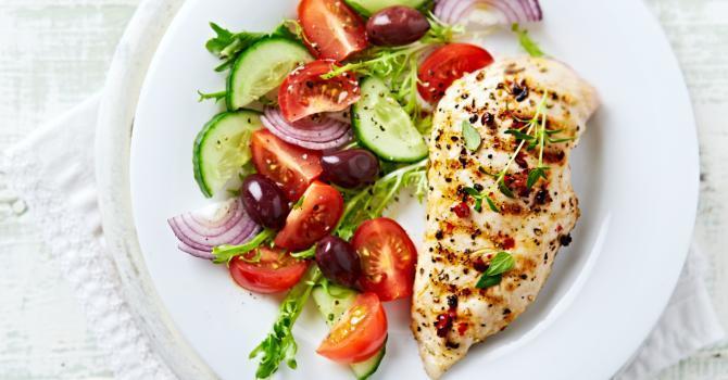 blanc poulet grille legume minceur