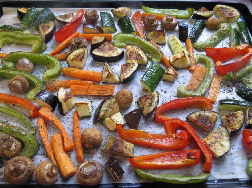 légumes grillés à la cuisson