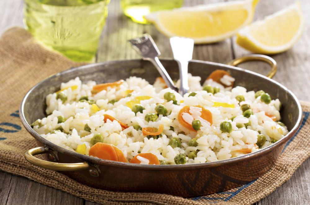 plat de riz aux légumes
