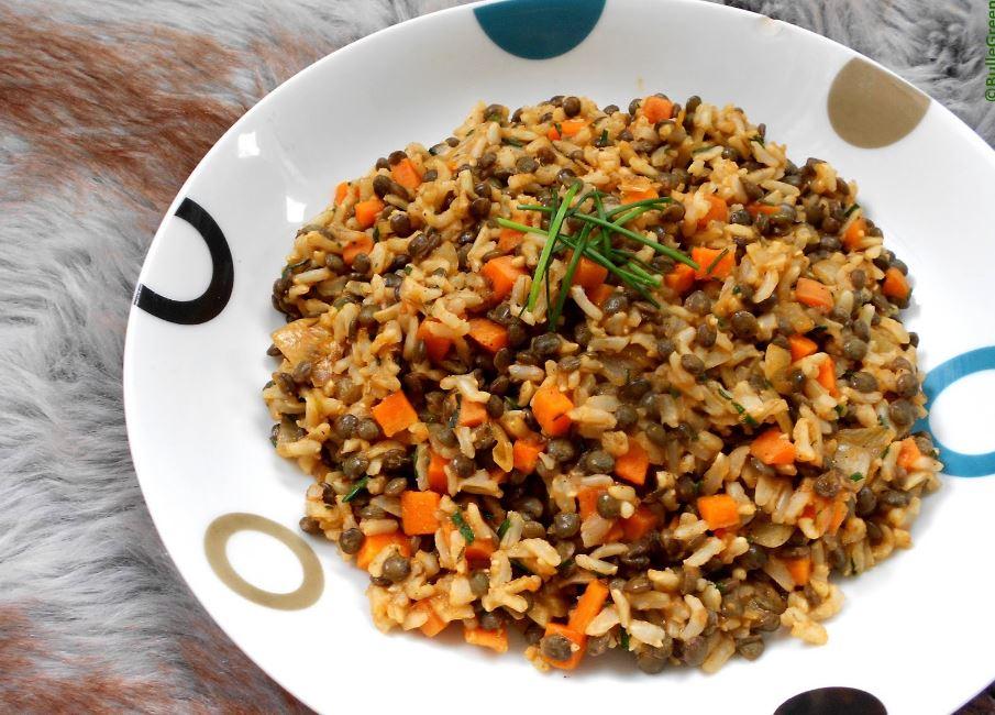 recette de riz avec des lentilles