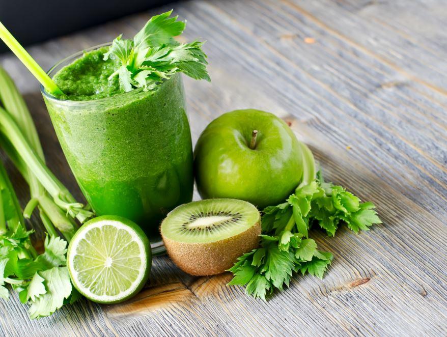 jus à base d'aliments verts
