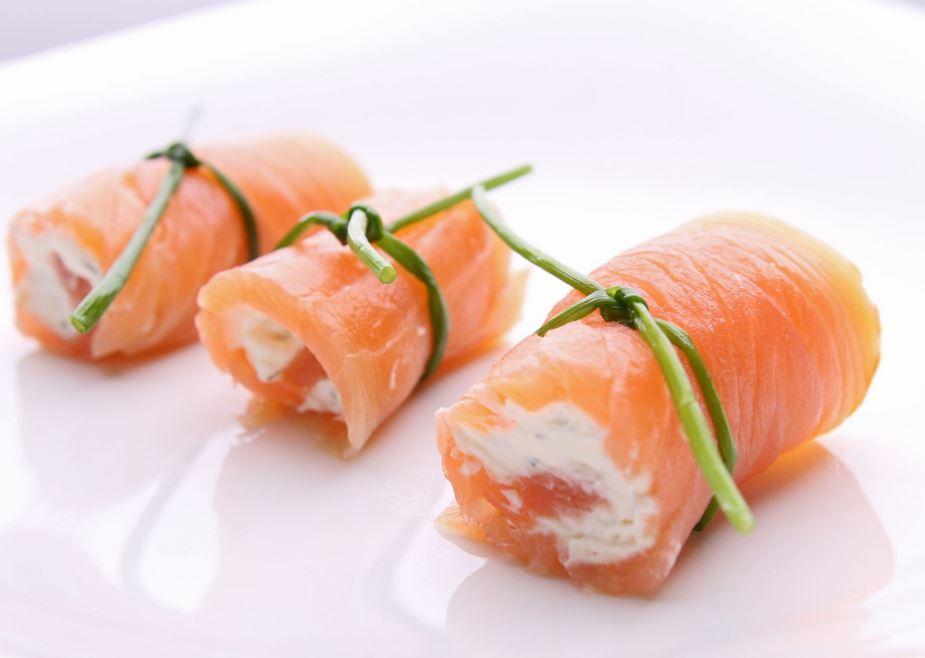 recette de roulés de saumon