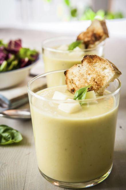 recette de soupe froide d'épinards